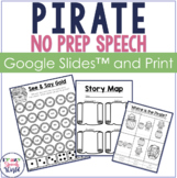 Pirate NO PREP Speech & Language Therapy