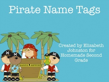 Pirate Name Tags