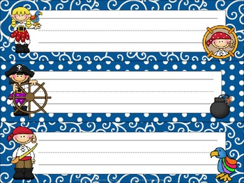 Pirate Name Tags / Desk Plates