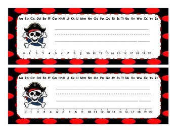 Pirate Name Tags Desk Plates