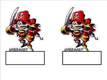 Pirate Nametags and Locker tags