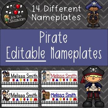 Nameplates EDITABLE - Pirates Decor