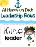 Pirate Nautical Classroom Leadership Jobs