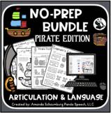Pirate No Prep BUNDLE: Speech and Language Activities (+Google Slides option)