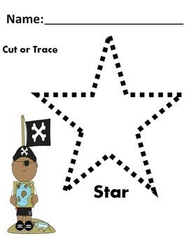 PreK Kindergarten Shapes-Tracing-Fine Motor- Scissor Activity Set!
