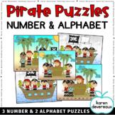 Pirate Number & Alphabet Puzzles