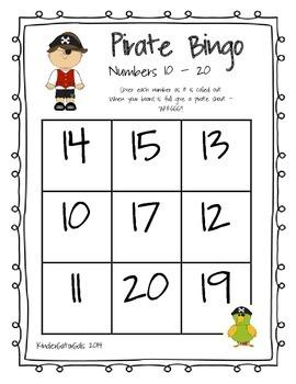 Pirate Number Bingo Bundle