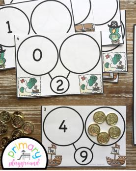 Pirate Number Bond Task Cards 1-10 Center