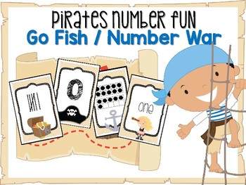 Pirate Number Card Game #0-20