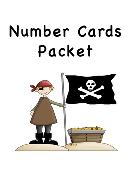 Pirate Number Card Packet