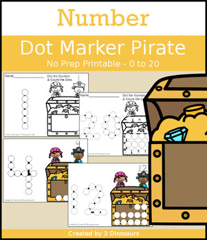 Pirate Number Dot Marker & Counting