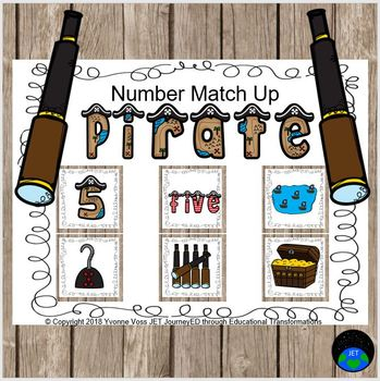 Pirate Number Match Up