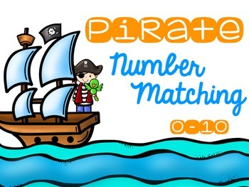Pirate Number Matching Cards