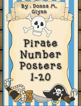 Pirate Number Posters 1-20