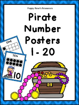Pirate Number Posters