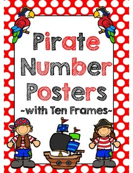 Pirate Number Posters with Ten Frames