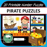 Pirate Number Puzzles - 20 Preschool Primary Pirate Puzzles 1-10 + Times Tables