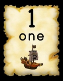 Pirate Number Tiles