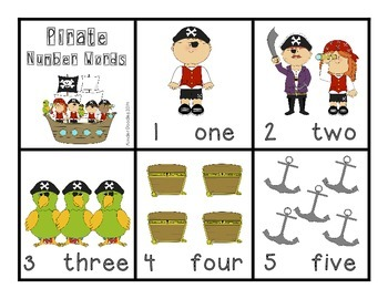 Pirate Number Word Matching