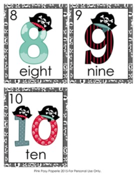 Pirate Number Words Write the Room Activity