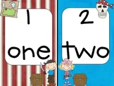 Pirate Number and Number Word Cards