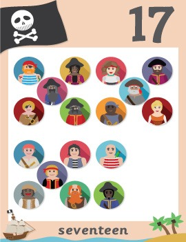 Pirate Numbers 0 to 20 (A4)