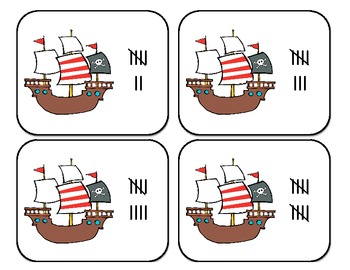 Pirate Numbers and Play-doh Mats!