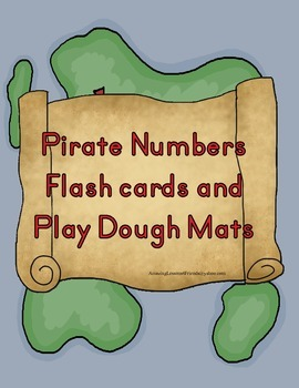 Pirate Numers Flash cards and Play Dough Mats