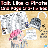 Pirate One Page Craftivities: Talk Like a Pirate Day Activity