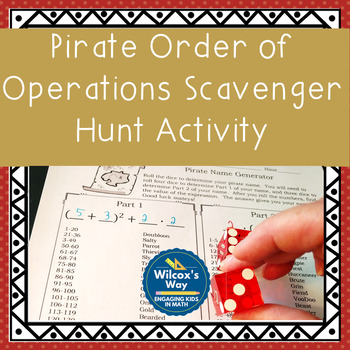 Pirate Order of Operations Scavenger Hunt Activity
