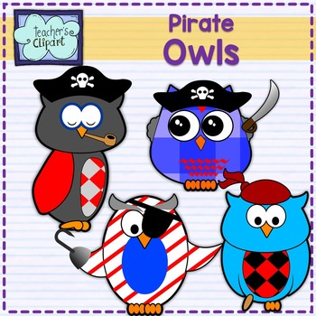Pirate Owls Clip art