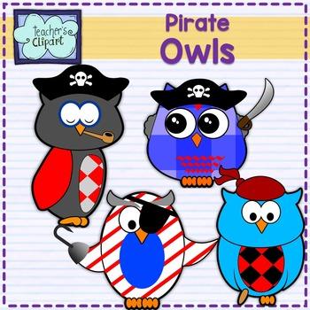 Pirate Owls Clip art