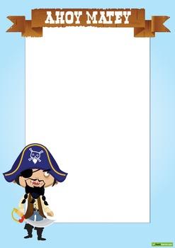 Pirate Page Borders and Cork Board Borders