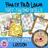 Pirate Pals Learn Test-Taking Strategies ESCAPE ROOM Standardized Test Prep Tips