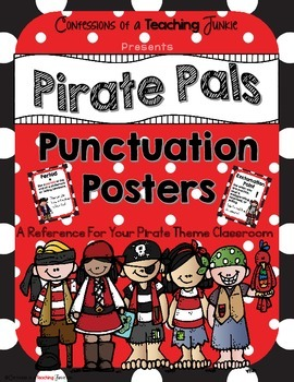 Pirate Pals Punctuation Posters Set