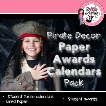 Pirate Paper/Awards/Calendars Decor Pack