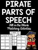 Pirate Parts of Speech Cut & Paste Worksheets Nouns, Adjectives, Verbs, Grammar