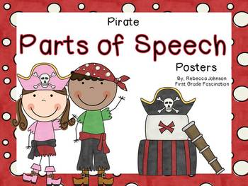 Pirate Parts of Speech posters
