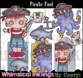 Pirate Paul Clipart Collection