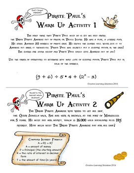 Pirate Paul's Adventures with Probability for Middle School