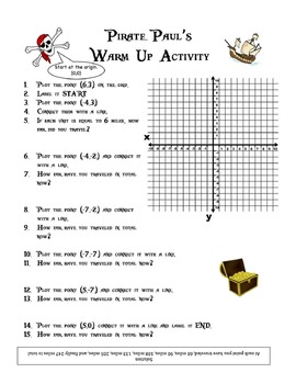 Pirate Pauls Bundle of Adventures on the Coordinate Plane for Middle School