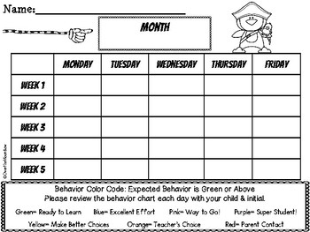 Pirate Penguins | Behavior Clip Chart