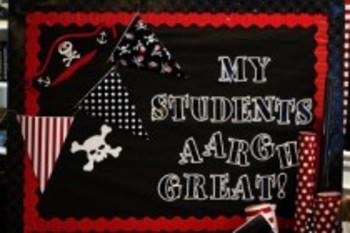 Classroom Decor Pirate Pennant Banner