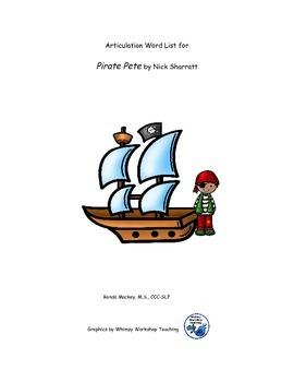 Pirate Pete Articulation Wordlist