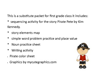 Pirate Pete Substitute packet