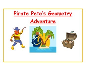 Pirate Pete's Geometry Adventure File Folder Game