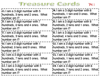 Pirate Pete's Place Value Treasure Hunt 3 Digit Numbers Game
