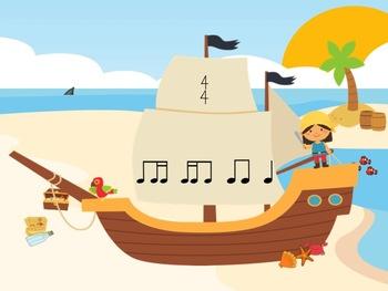 Pirate Pete's Poison Pattern - A Game for Practicing Ti-Ti-Ka and Ti-Ka-Ti