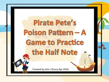 Pirate Pete's Poison Pattern - A Game for Practicing the H