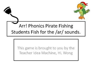 Pirate Phonics - Spelling Game, Fish for Vowel Sounds, especially /ar/